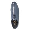 Pánské kožené polobotky bata, modrá, 824-9669 - 19