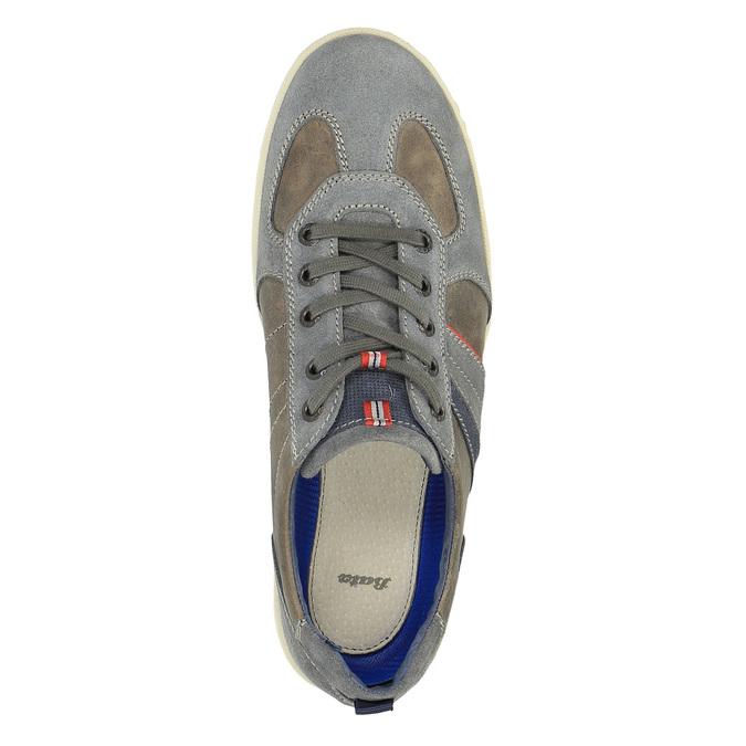Pánské kožené tenisky bata, šedá, 826-2649 - 19