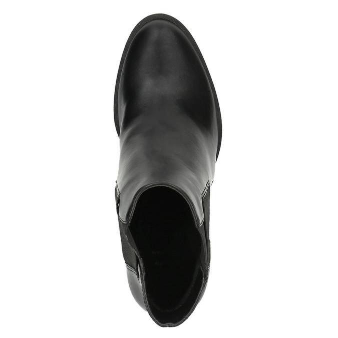 Kotníčková obuv na podpatku s pružnými boky bata, černá, 791-6604 - 19