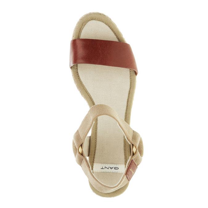 Dámské sandály na platformě gant, hnědá, 764-3014 - 19