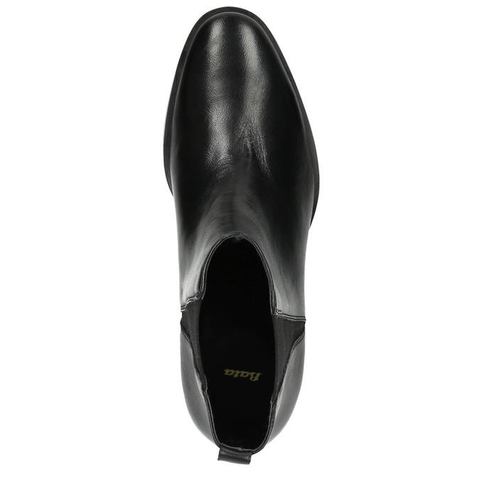 Dámské kožené Chelsea Boots bata, černá, 596-6623 - 19
