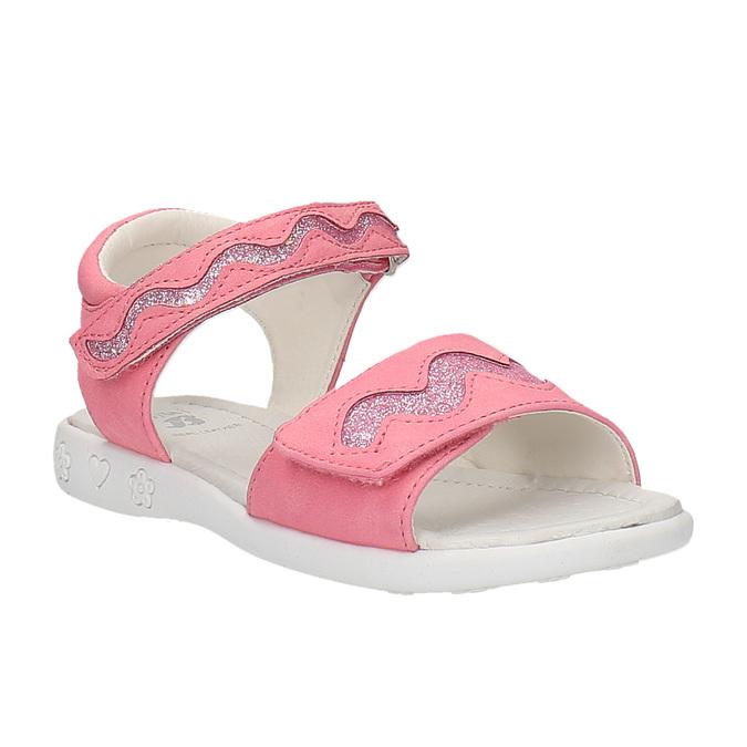 Růžové sandály na suché zipy mini-b, růžová, 261-5159 - 13