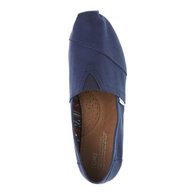 Pánské Slip on toms, modrá, 819-9004 - 19