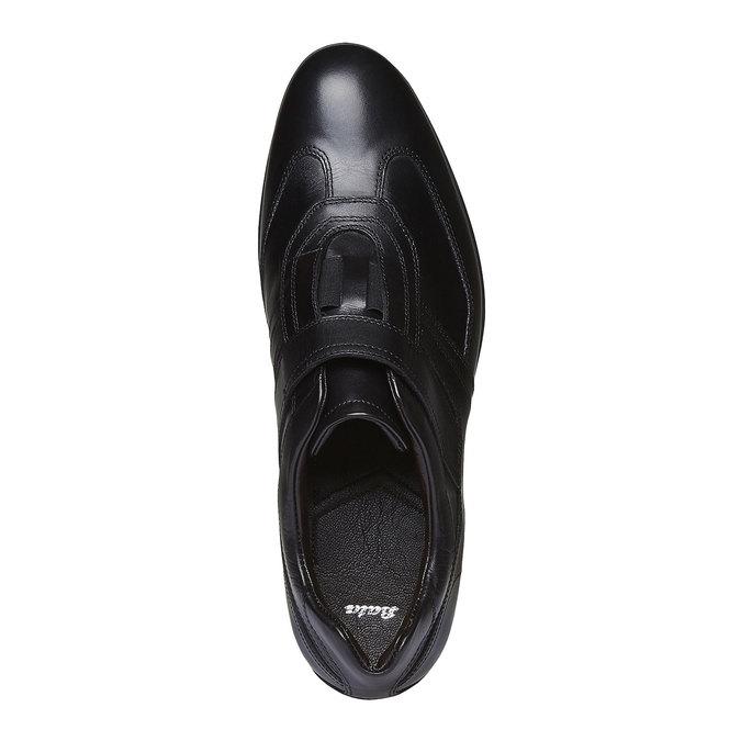 Pánské kožené tenisky bata, černá, 814-6989 - 19