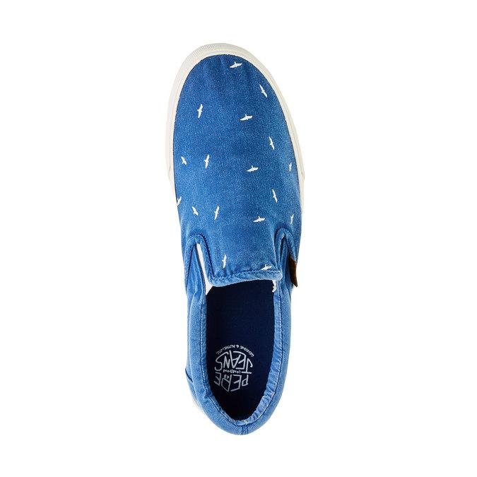 Pánské modré Slip On pepe-jeans, modrá, 839-9004 - 19