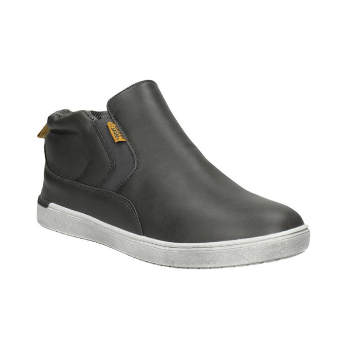 Dětská kotníčková obuv ve Slip-on stylu north-star, šedá, 411-2603 - 13