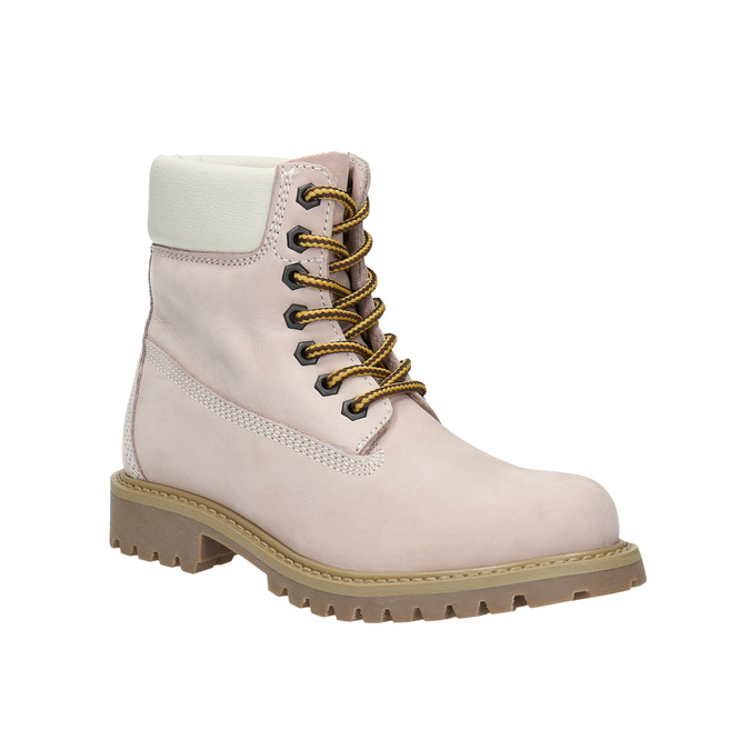 Dětská kožená obuv na výrazné podešvi weinbrenner-junior, růžová, 396-5182 - 13
