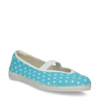 Dětské cvičky s puntíky bata, modrá, 379-9103 - 13