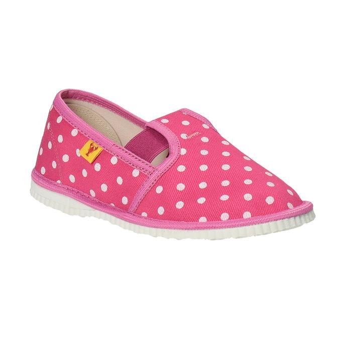 Dívčí domácí obuv s puntíky bata, růžová, 279-5103 - 13