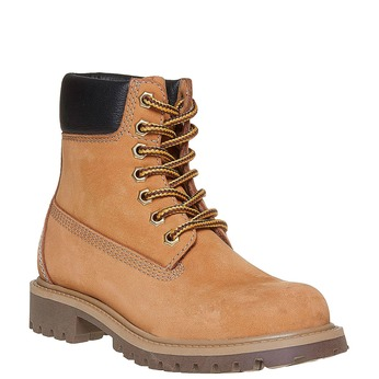 Dětská kožená obuv na výrazné podešvi weinbrenner-junior, hnědá, 396-8182 - 13