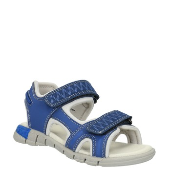 Dětské sandály s koženými pásky mini-b, modrá, 264-9166 - 13