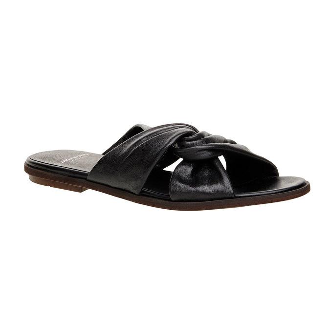 Kožené nazouvací sandály vagabond, černá, 564-6018 - 13