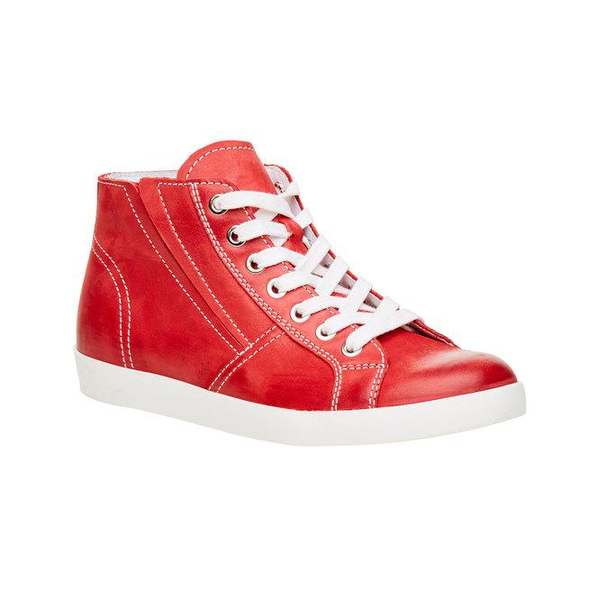 Kožené kotníčkové tenisky bata, červená, 524-5310 - 13