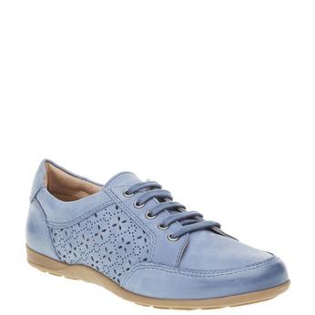 Ležérní kožené tenisky bata, modrá, 524-9511 - 13