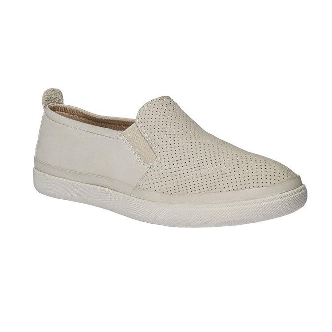 Kožené Plim Soll boty s perforací bata, bílá, 514-1197 - 13