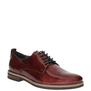 Dámské Derby polobotky bata, červená, 528-5600 - 13