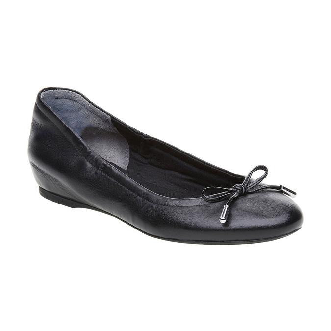 Černé kožené baleríny rockport, černá, 524-6121 - 13