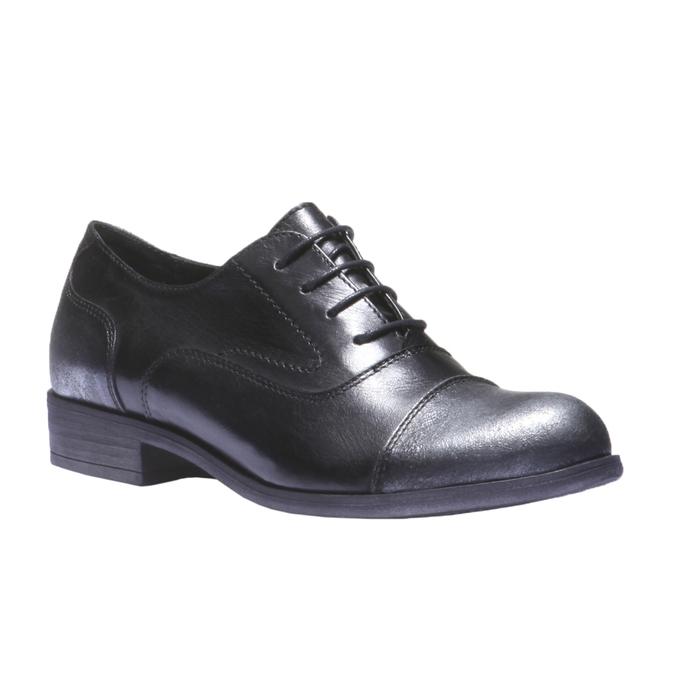 Kožené dámské polobotky bata, černá, 524-6104 - 13