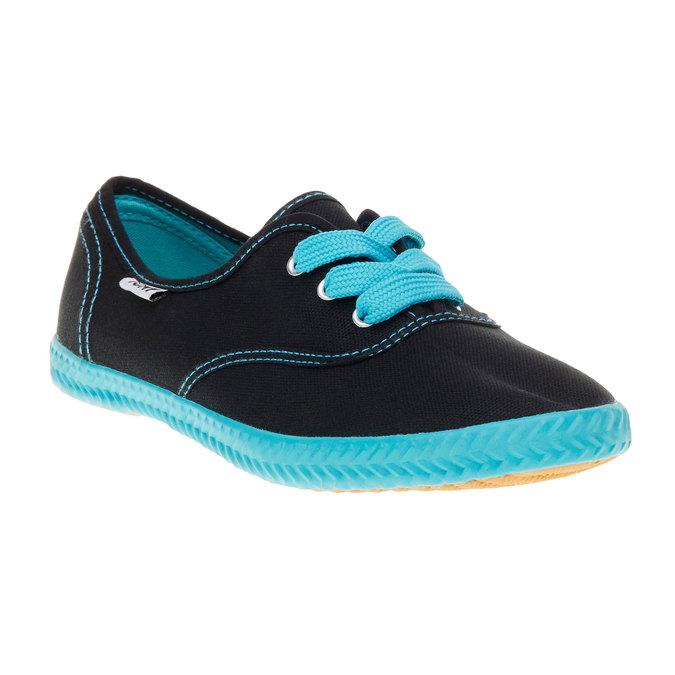 Černé textilní tenisky tomy-takkies, černá, 519-6110 - 13