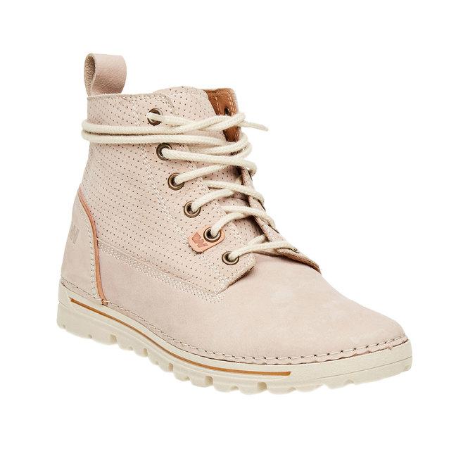 Kožené kotníčkové boty weinbrenner, béžová, 594-2531 - 13
