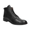Kožená kotníčková obuv bata, černá, 594-6263 - 13