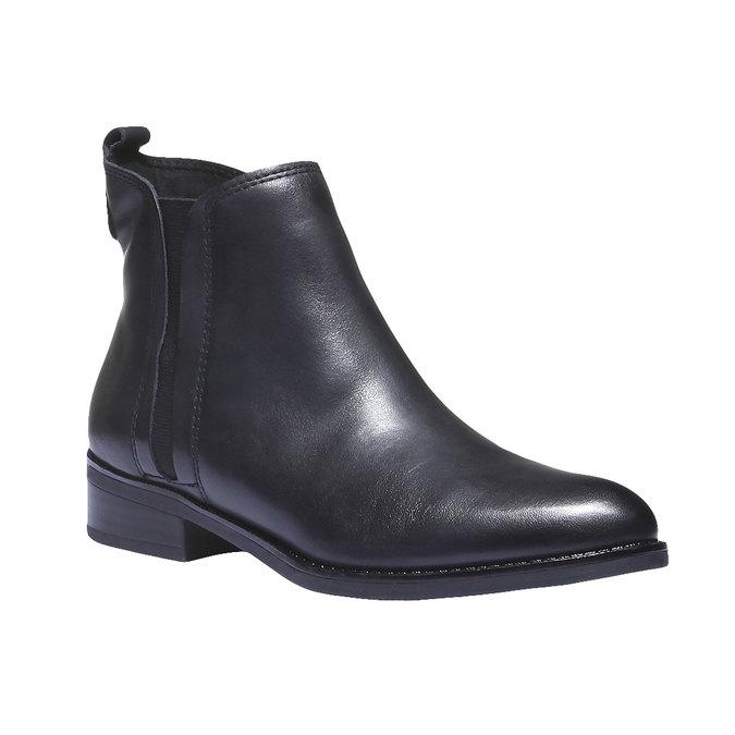Kožená obuv v Chelsea střihu bata, černá, 594-6624 - 13