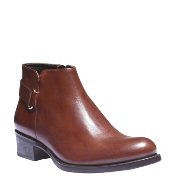 Kožené kotníkové boty s páskem bata, hnědá, 694-3159 - 13