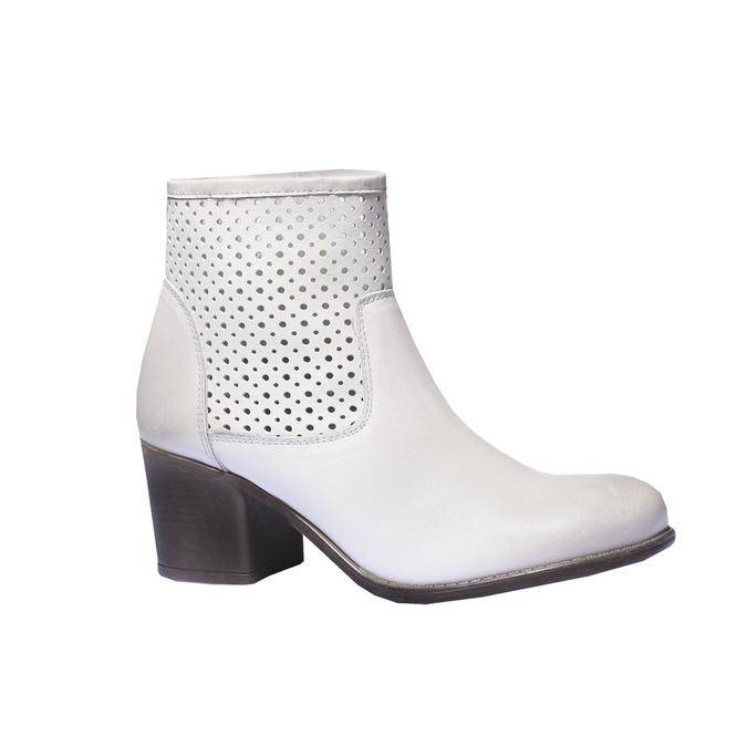 Jarní obuv s jemnou perforací bata, bílá, 694-1136 - 13