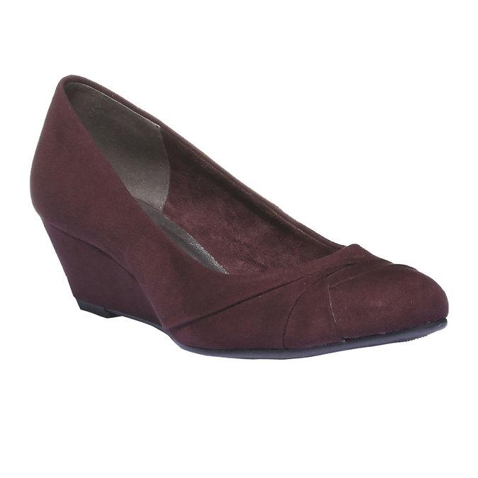 Lodičky na klínovém podpatku bata, fialová, 729-5231 - 13