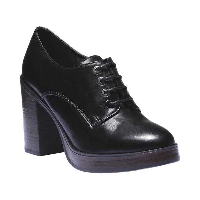 Dámské polobotky na podpatku bata, černá, 724-6873 - 13