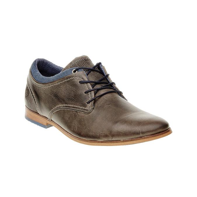 Módní kožené polobotky bata, hnědá, 824-2102 - 13