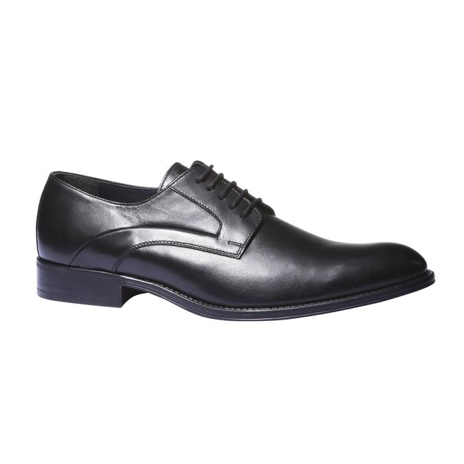 Kožené polobotky v Derby stylu bata, černá, 824-6108 - 13