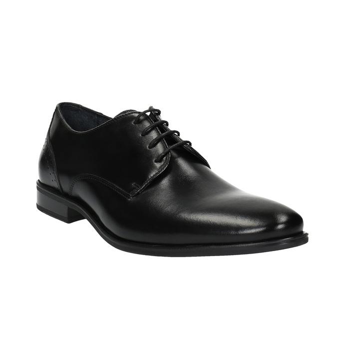 Pánské kožené polobotky bata, černá, 824-6705 - 13