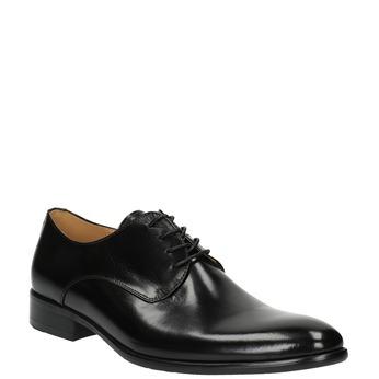 Pánské kožené polobotky bata, černá, 824-6648 - 13