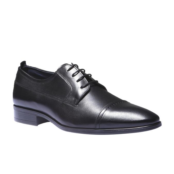 Kožené derby bata, černá, 824-6850 - 13