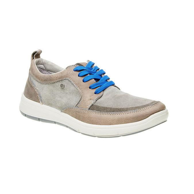 Pánská vycházková obuv, šedá, 843-2631 - 13
