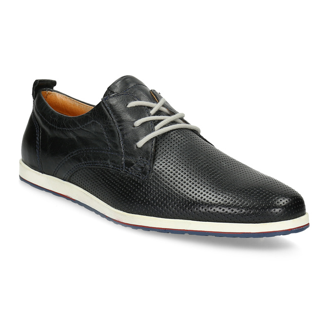 Ležérní kožené polobotky bata, černá, 824-9124 - 13