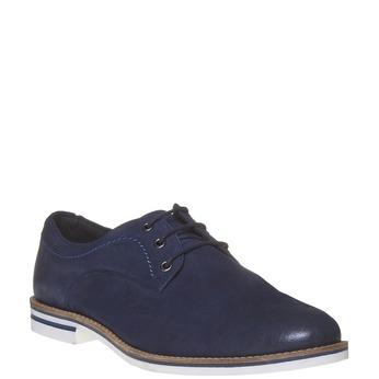 Ležérní kožené polobotky bata, modrá, 826-9642 - 13