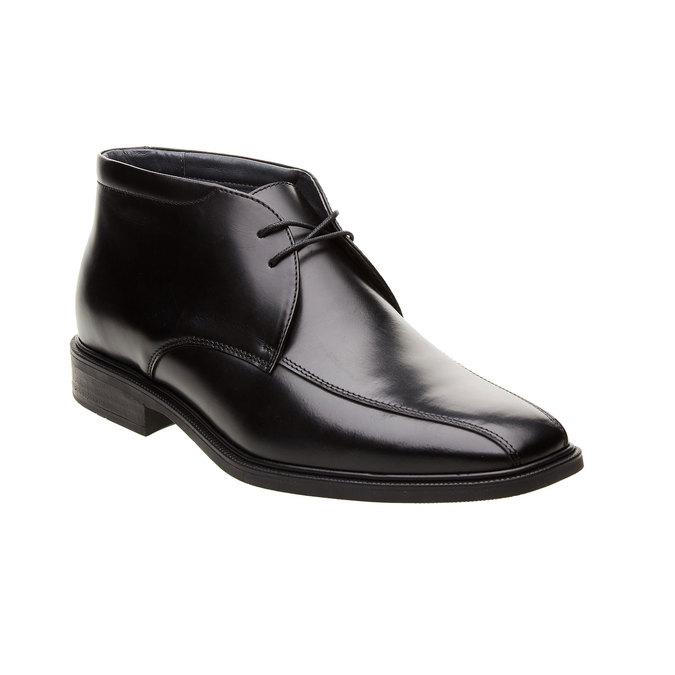Kožené kotníčkové boty climatec, černá, 894-6208 - 13