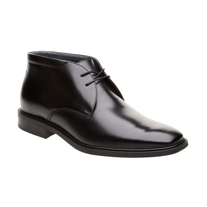 Kožené kotníčkové boty climatec, černá, 894-6209 - 13