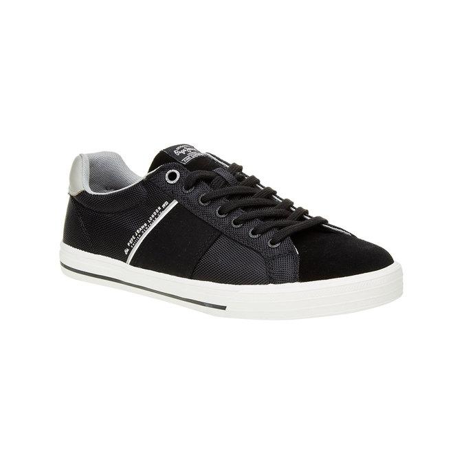 Černé pánské tenisky pepe-jeans, černá, 849-6008 - 13