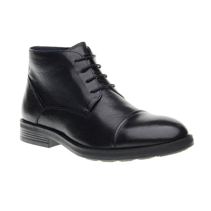 Kožené kotníkové Chukka Boots bata, černá, 894-6260 - 13
