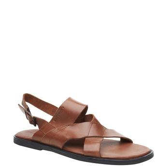 Pánské kožené sandály rockport, hnědá, 864-3106 - 13