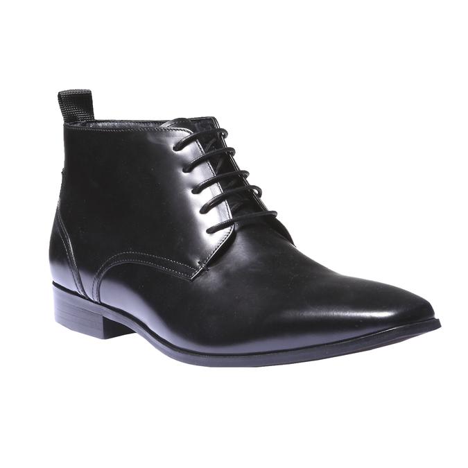Kožená kotníčková obuv bata, černá, 894-6144 - 13