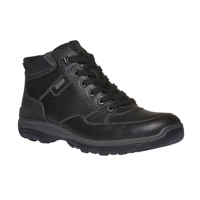 Kožené kotníkové boty se zateplením bata, černá, 894-6130 - 13