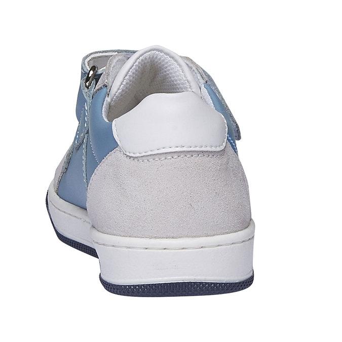 Dětské kožené tenisky na suché zipy mini-b, modrá, 214-9153 - 17