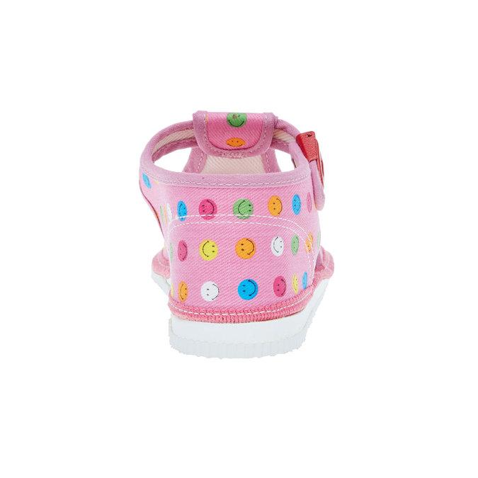 dětská domácí obuv bata, růžová, 179-5100 - 17