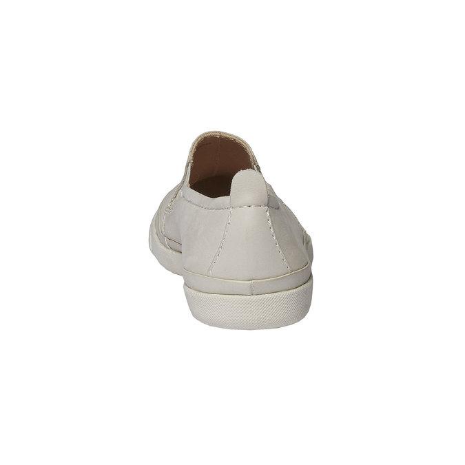 Kožené Plim Soll boty s perforací bata, bílá, 514-1197 - 17