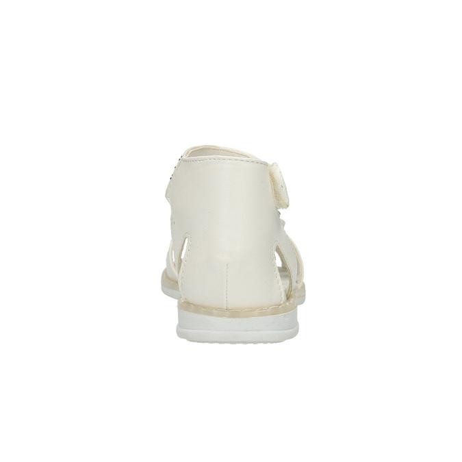 Dívčí sandály s kamínky mini-b, bílá, 261-1160 - 17