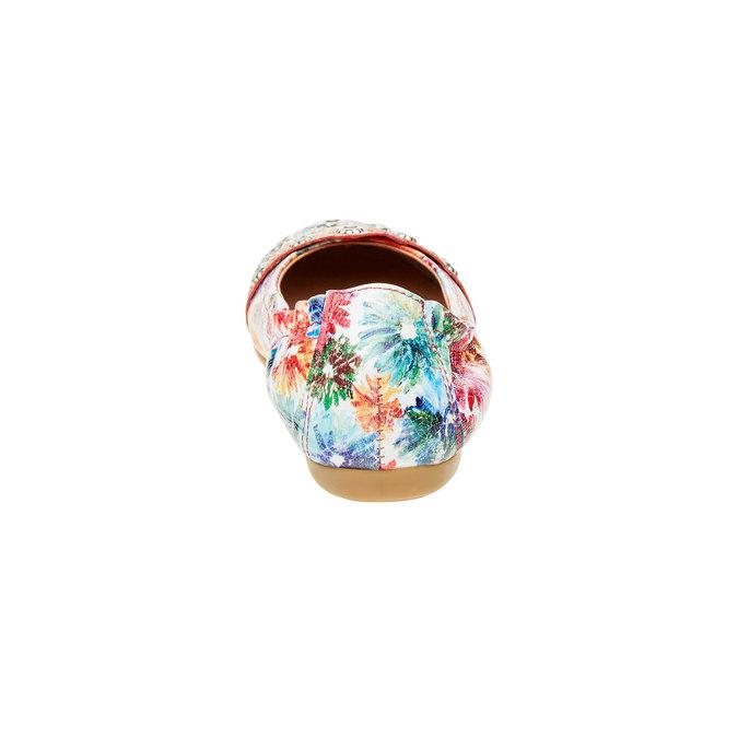 Dámské baleríny s květinovým vzorem bata, 526-0100 - 17